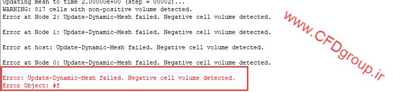 خطای حجم منفی در دینامیک مش - الگوریتم Overset mesh