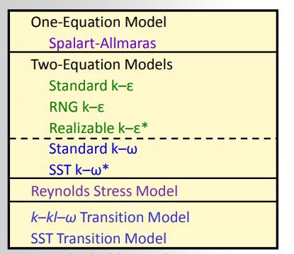 مدل توربولانس در فلوئنت - مدل توربولانسی فلوئنت